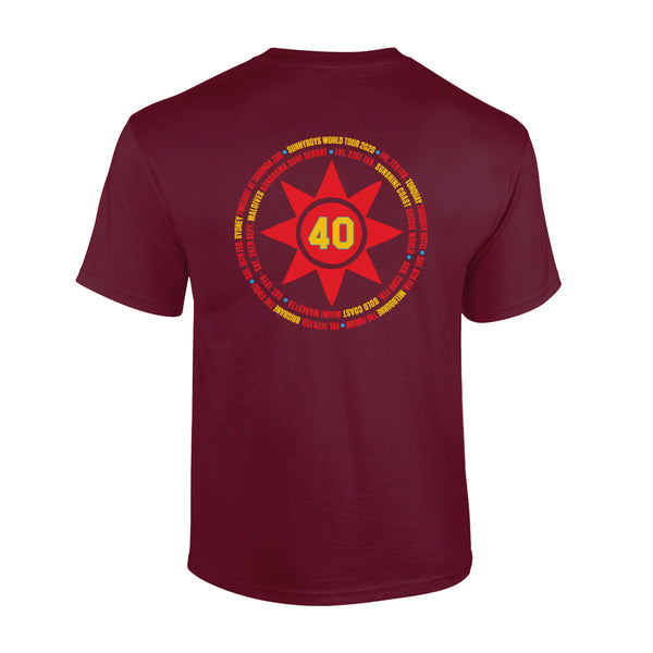 Sunnyboys - 40 T-shirt (Maroon) back
