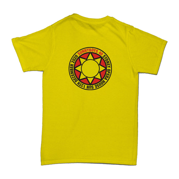 Sunnyboys - Sydney Opera House 2020 T-shirt (Yellow) back