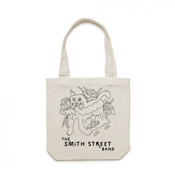 The Smith Street Band - Surfing Cat Tote (Cream)