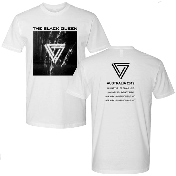 The Black Queen - 2019 Australian Tour T-shirt (White)