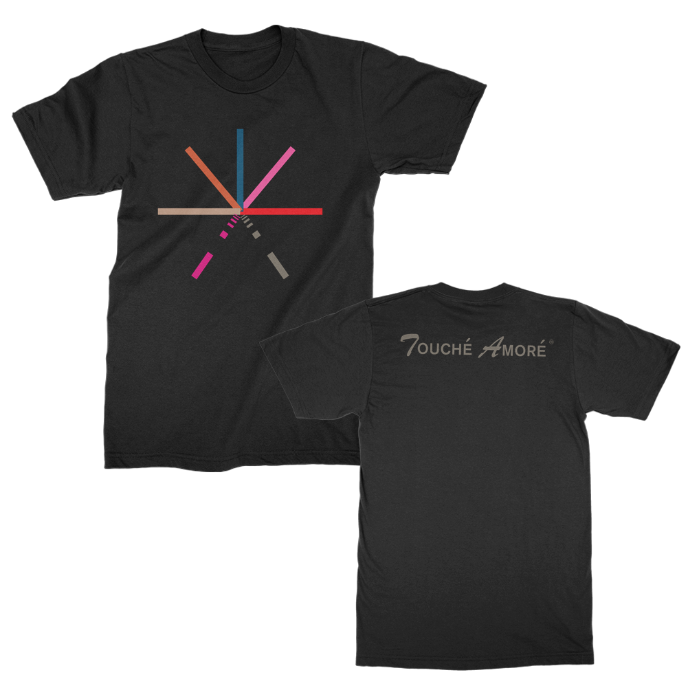 Touche Amore - 7 Color Asterisk T-shirt (Black)