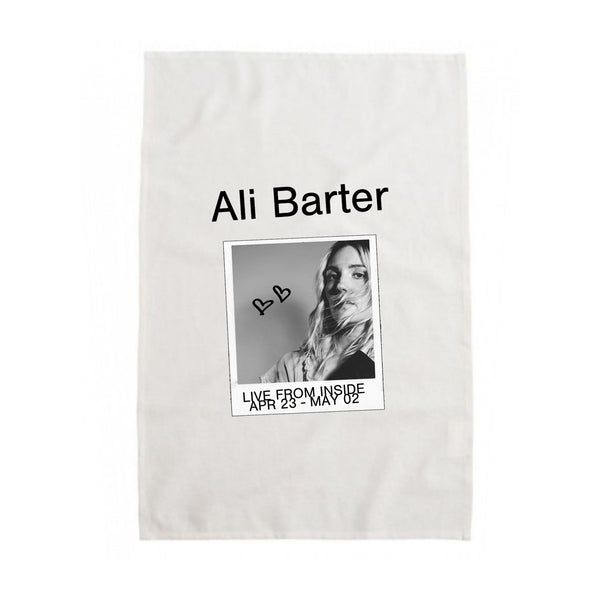 Ali Barter - Live Inside Tea Towel