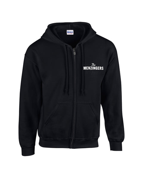 The Menzingers - Logo Zip Up Hoodie Black Front