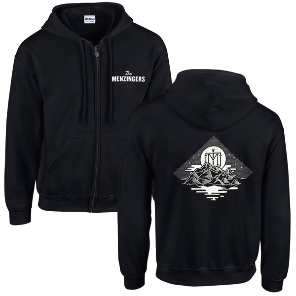 The Menzingers - Logo Zip Up Hoodie Black Front Back