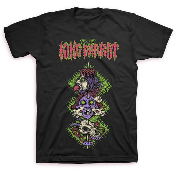 King Parrot - Thrash Blast Grind Tour 2019 Tee - front and back