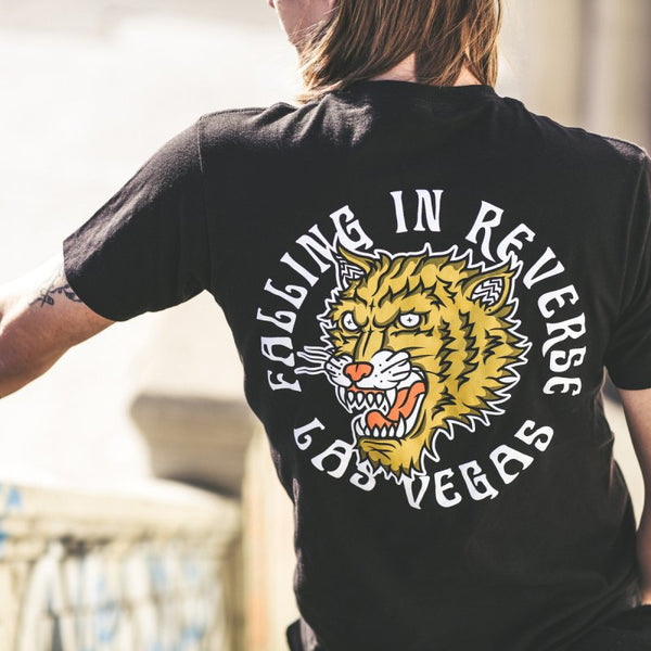 Falling In Reverse - Tiger Tee (Black) Back Photo