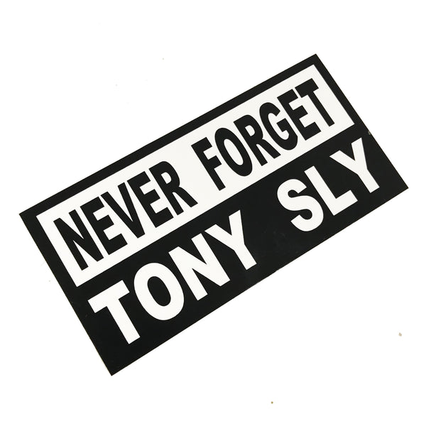 Tony Sly - Never Forget Tony Sly Sticker