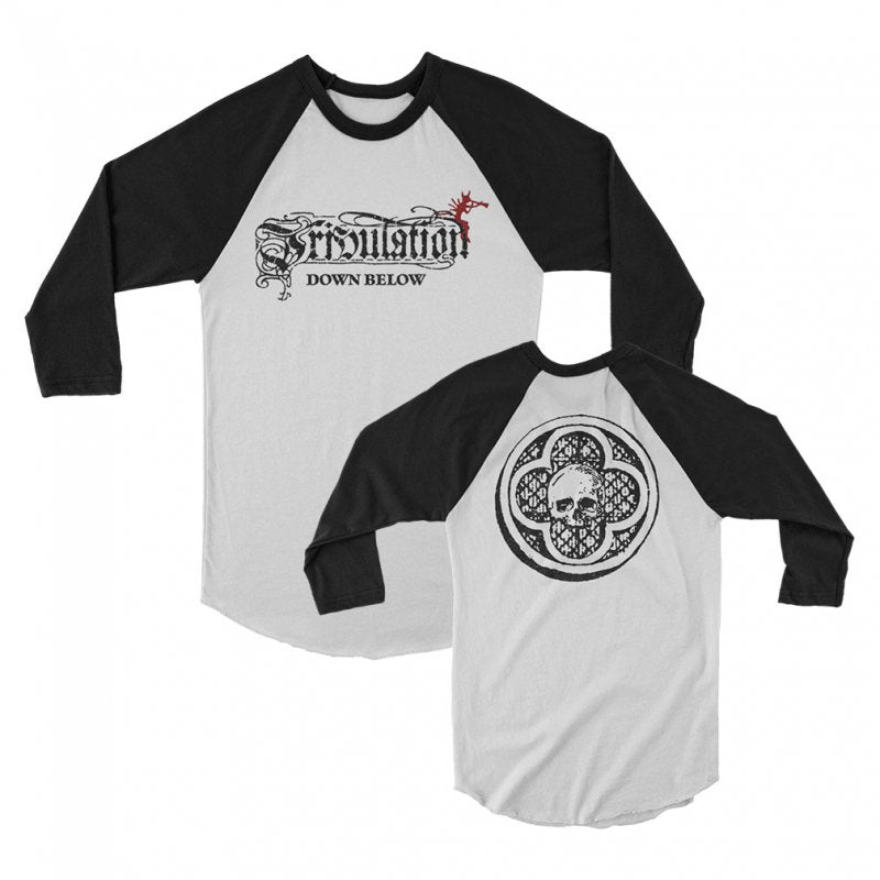 Tribulation - Down Below Raglan (White/Black)