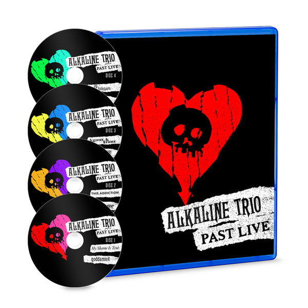 Alkaline Trio - Past Live 4 Disc Blu-ray with discs