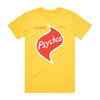 Cosmic Psychos - Twisties Tee (Yellow) Front