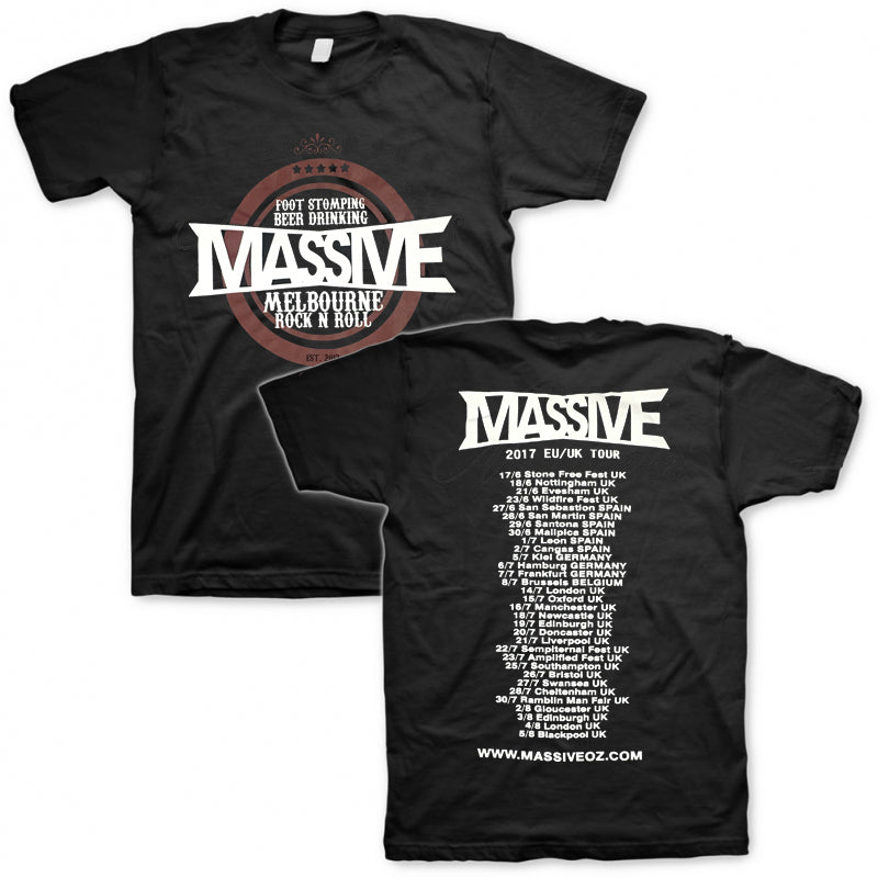 Massive - 2017 EU UK Tour Tee (Maroon/Black)