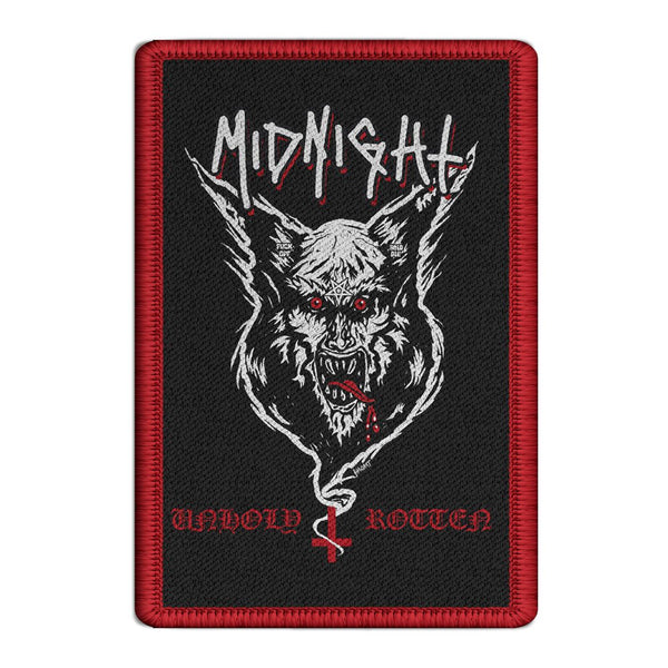 Midnight - Unholy Rotten Embroidered Patch (Red)