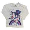 Unicorn Kids Long Sleeve (White)