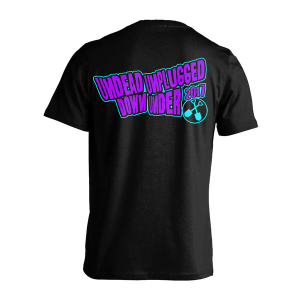 Wednesday 13 - Undead Unplugged DU Tour T-shirt (Black/Blue/Purple) Back
