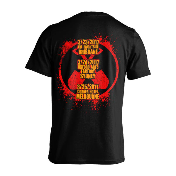Wednesday 13 - Undead Unplugged DU Tour T-shirt (Black/Orange/Red) Back
