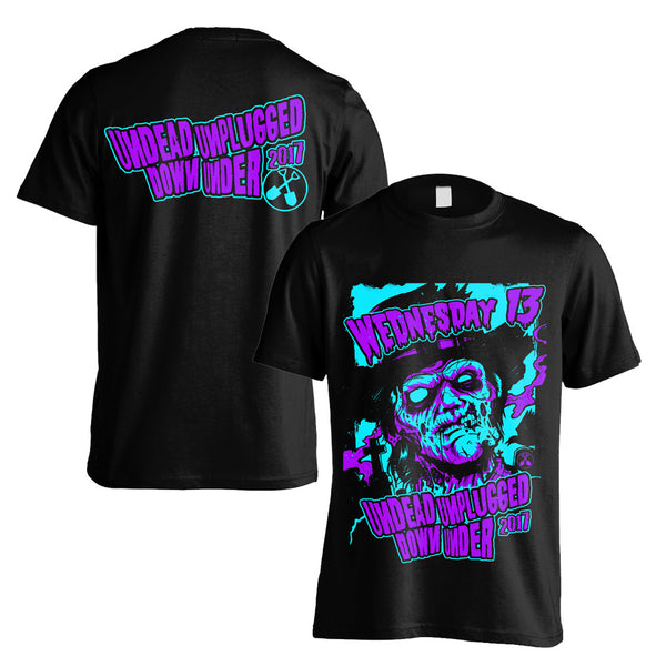 Wednesday 13 - Undead Unplugged DU Tour T-shirt (Black/Blue/Purple)