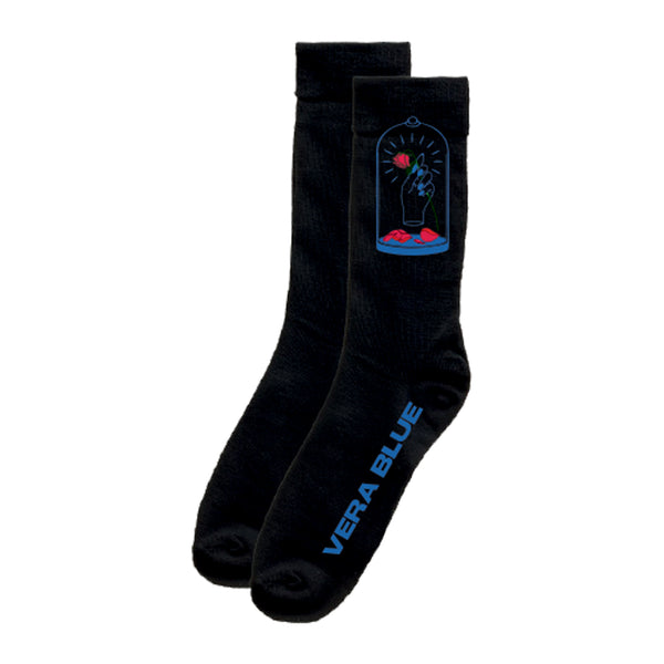 Vera Blue - Rose Socks (Black)