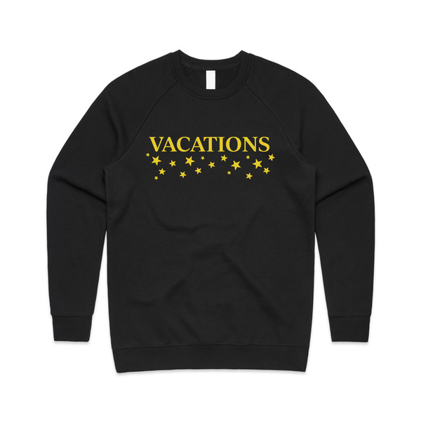 Vacations - Star Logo Embroidered Crewneck (Black)
