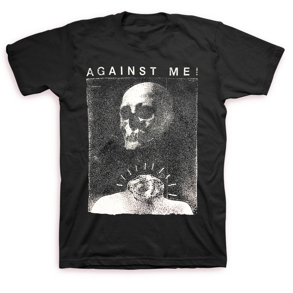 Against Me! Video Skull Tee Black