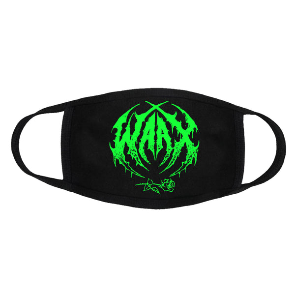 WAAX - Old School Death Metal Logo Face Mask (Black)