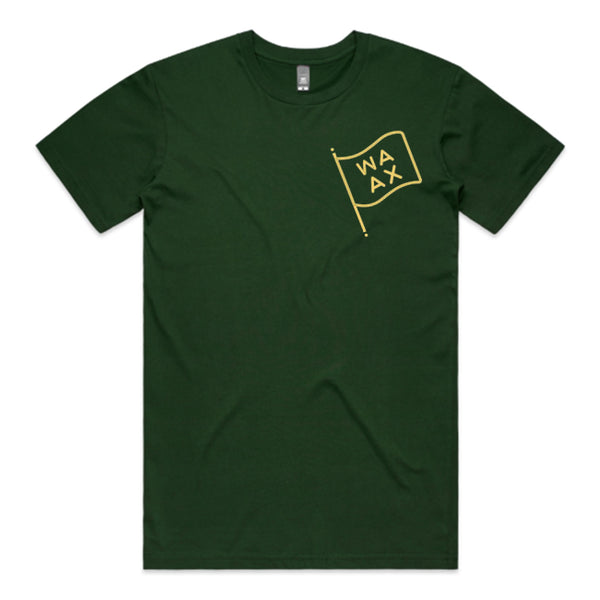 WAAX - Flag Tee (Forest Green)