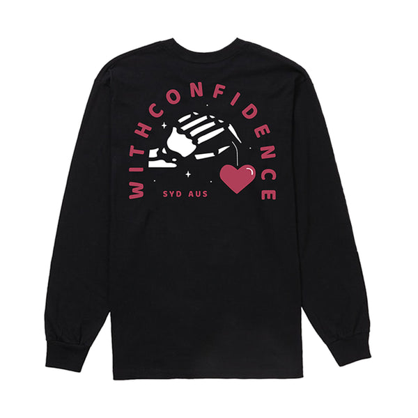 With Confidence - Heart String Longsleeve (Black)