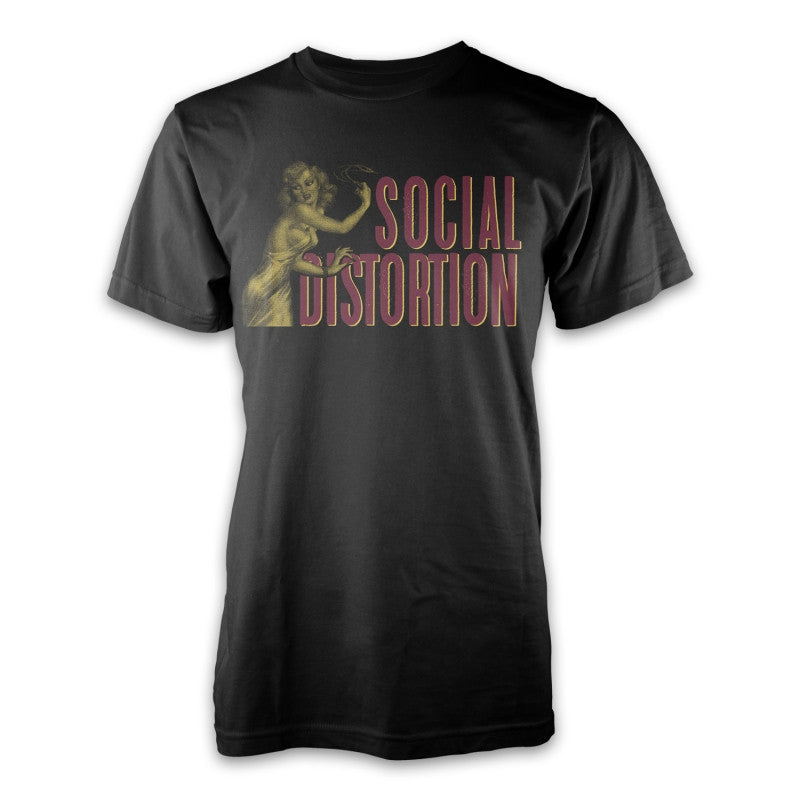 Social Distortion Whip T-shirt Black