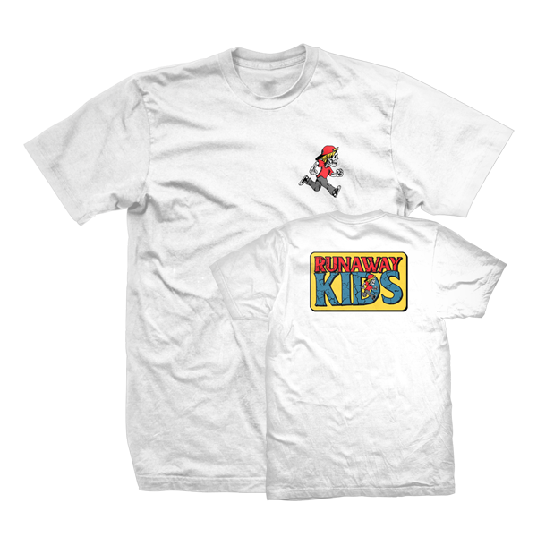 Runaway Kids RK Pocket Print T White