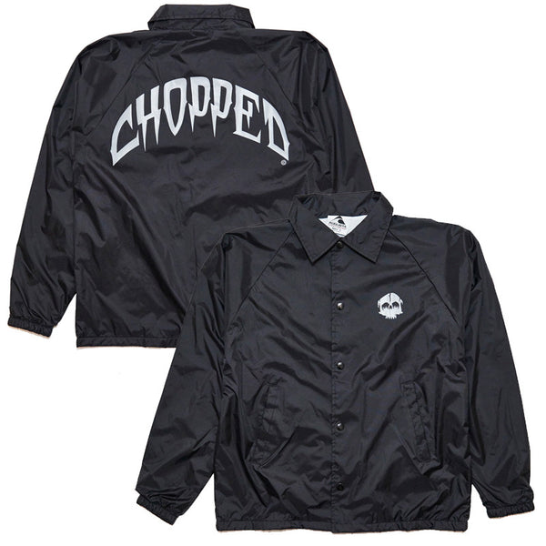 Chopped Skull Slash Windbreaker (Grey/Black)
