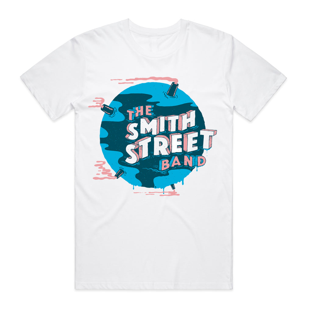 The Smith Street Band - World Melt Tee (White)
