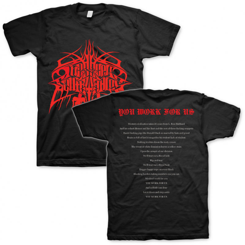 These New South Whales - You Work For Us Tee (Black) Front & Back