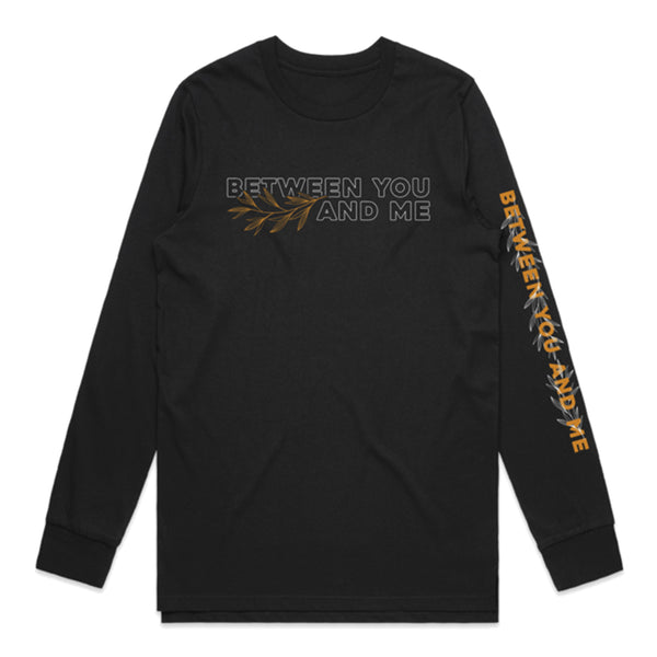 Between You And Me - Leaves Longsleeve (Black)