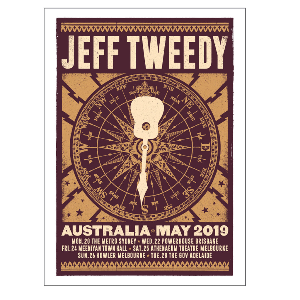 Jeff Tweedy - Compass 2019 Tour Poster (A2)