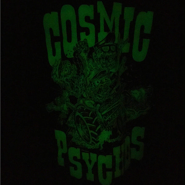 Cosmic Psychos - Cosmic Psychos Glow In The Dark Tee (Black)