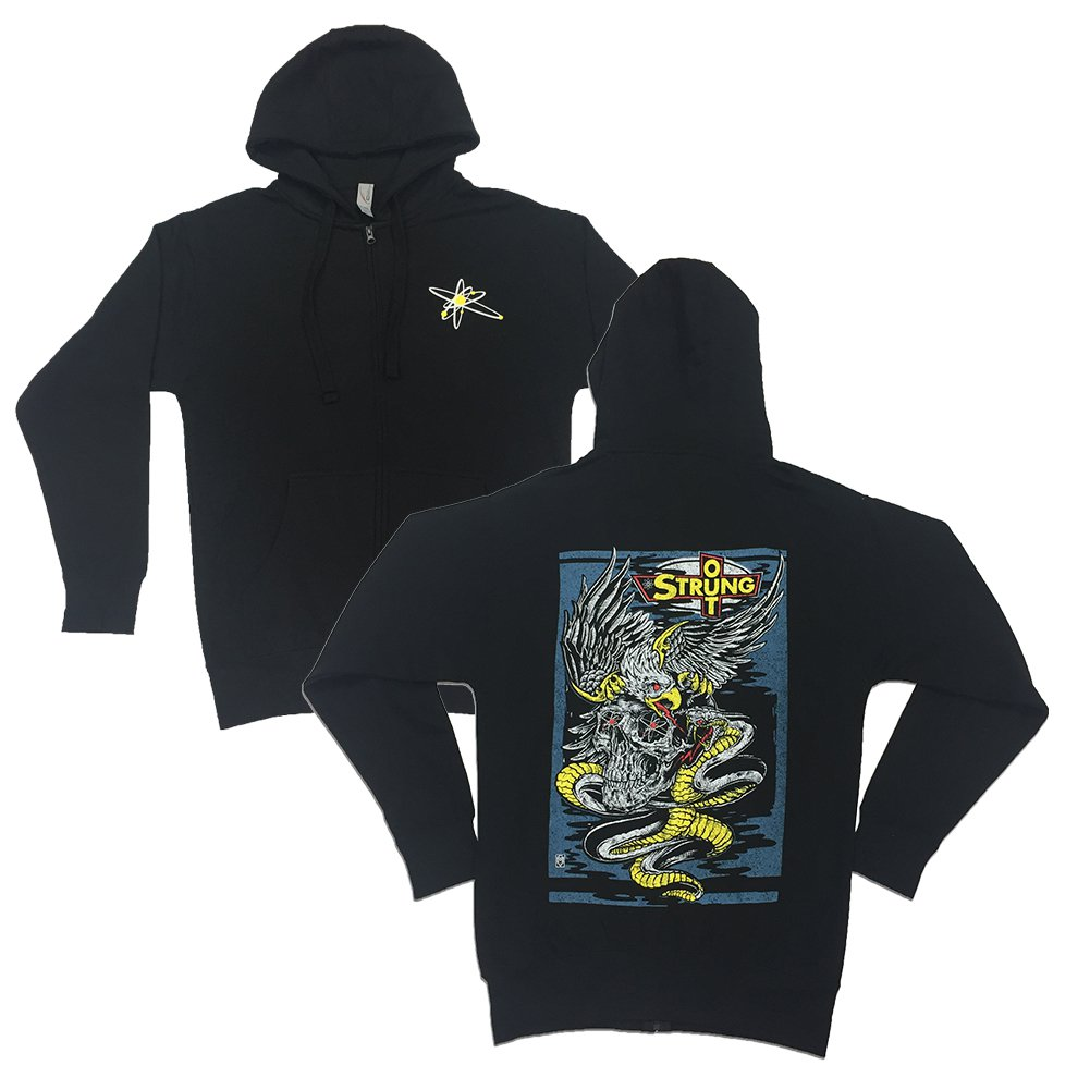 Strung Out - Eagle Skull Zip Hoodie (Black)