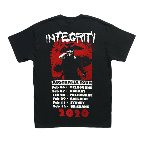 Integrity - 2020 Australian Tour Tee (Black) back