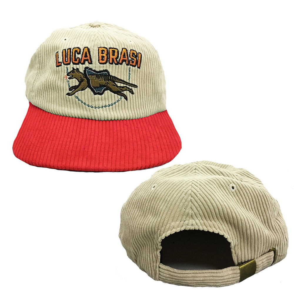 Luca Brasi - Tassie Corduroy Hat (Natural w/ Red)