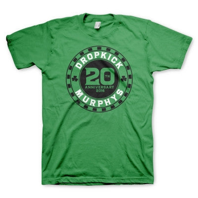 20th Anniversary Poker Chip T-shirt (Green)