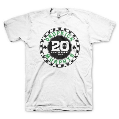 20th Anniversary Poker Chip T-shirt (White)