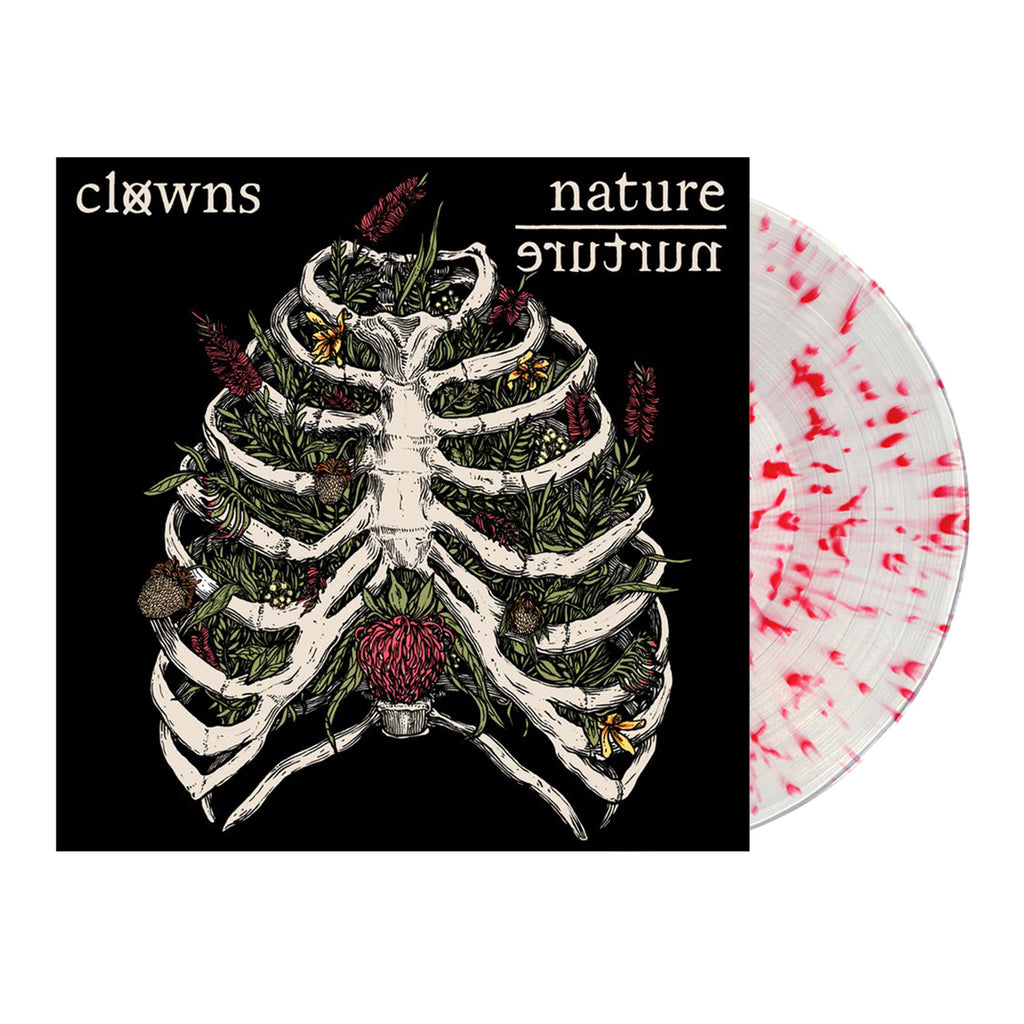 Clowns - Nature / Nurture LP (Clear w/ Red Splatter)