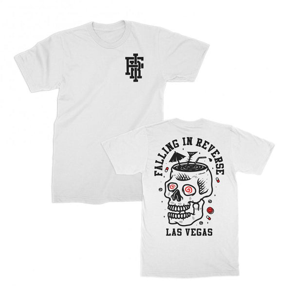 Falling In Reverse - Skull Cocktail Tee (White)