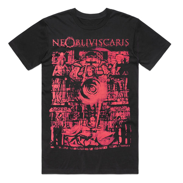 Ne Obliviscaris - red stained glass window t-shirt