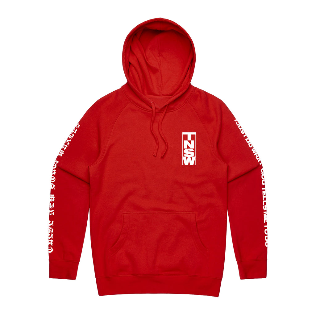 These New South Whales - I Just Do What God Tells Me To Do Hoodie (Red)