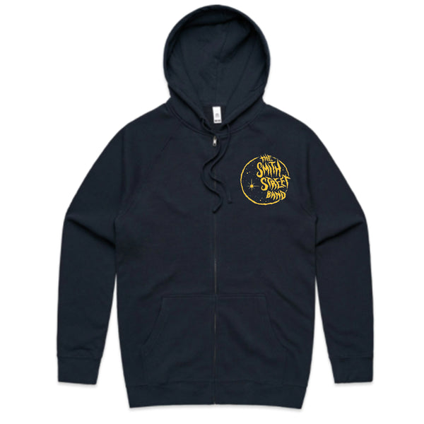 The Smith Street Band - Moon Zip Up Hoodie (Navy)