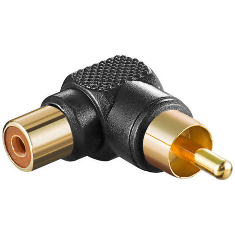 Delock audio adapter RCA plug male > RCA jack female 90 °angled goldplated Cinch - Optiwire.ie