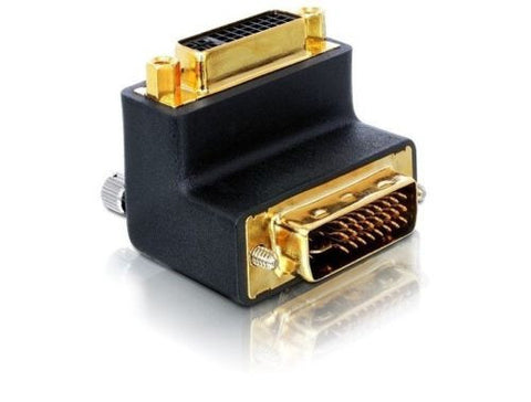 Delock Adapter DVI 29pin male > female right angled for difficult to access port - Optiwire.ie