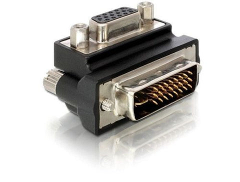 Delock Adapter VGA female > DVI 29pin male 90° right angled nickel-plated - Optiwire.ie