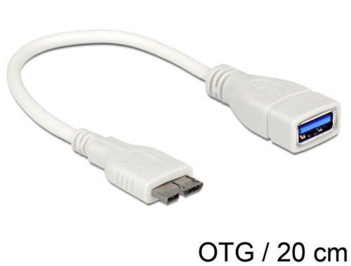 OTG Cable Micro USB 3.0 > USB 3.0-A female Samsung Note 3 On-the-Go for Android - Optiwire