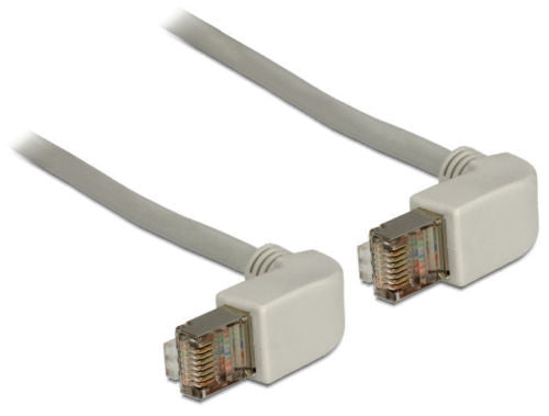 Delock Cable RJ45 Cat.6 SSTP angled / angled 0.5 m ideal for small spaces Grey - Optiwire.ie