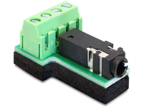 Delock Adapter Stereo jack 3.5mm 4pin > Terminal Block 4pin pitch 3.81 antislip - Optiwire.ie